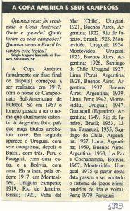 Read more about the article A Copa América e seus campeões