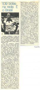 Read more about the article Seleção Brasileira. 109 bolas na rede. É o Brasil.