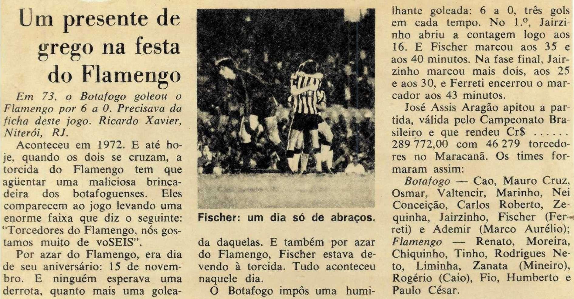 You are currently viewing Um presente de grego na festa do Flamengo