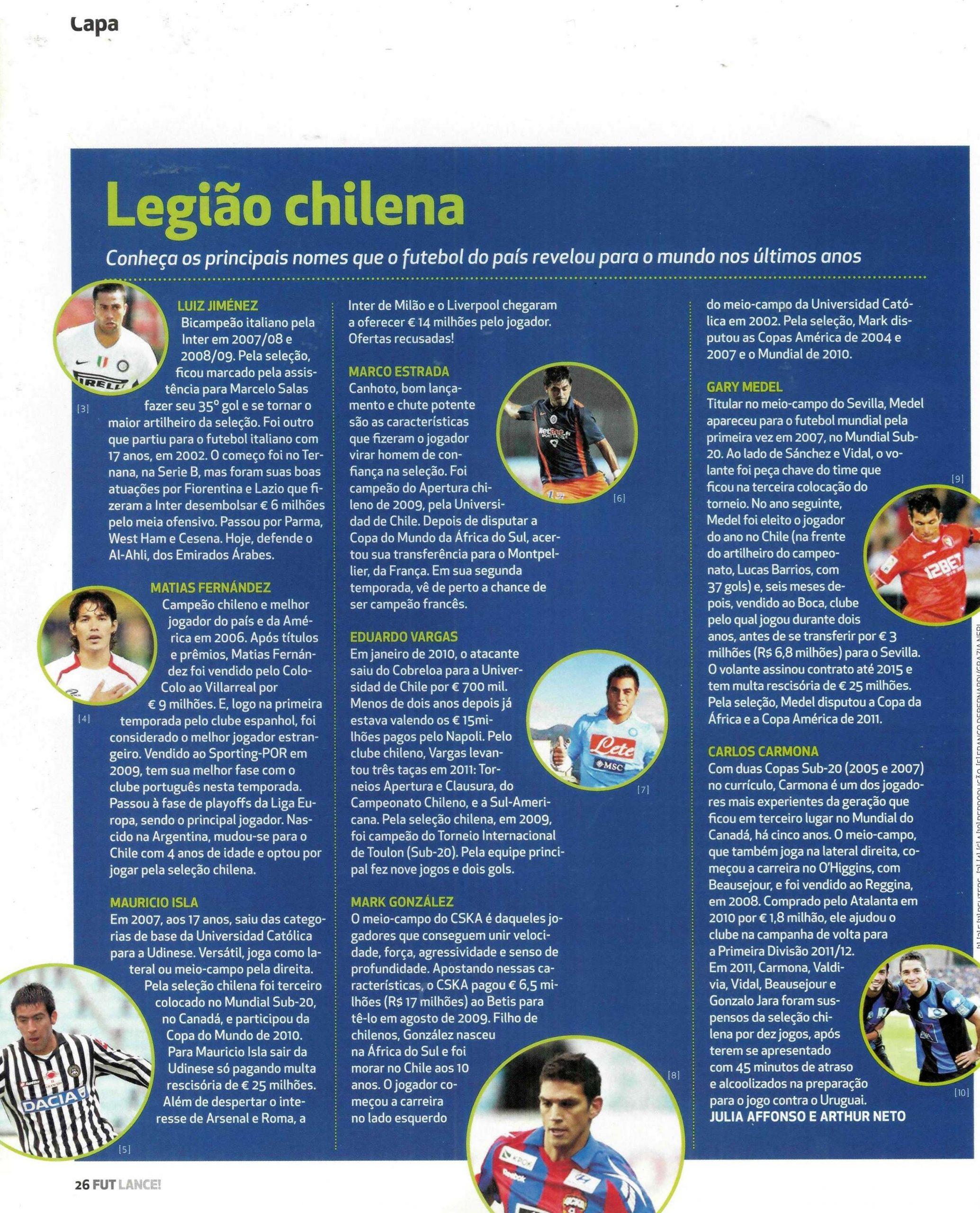 Read more about the article Legião chilena