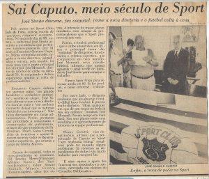 Read more about the article Sai Caputo, meio século de Sport