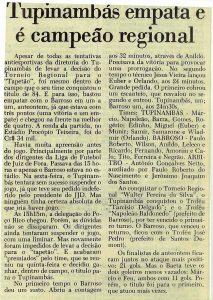 Read more about the article Tupinambás empata e é campeão regional