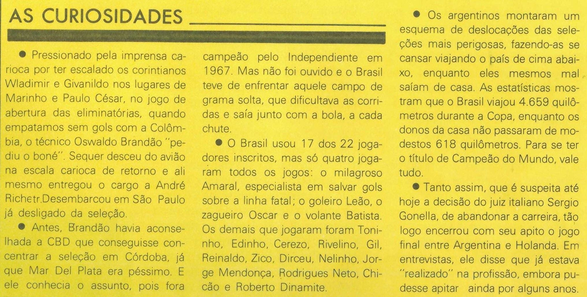 Read more about the article Curiosidades Copa do Mundo
