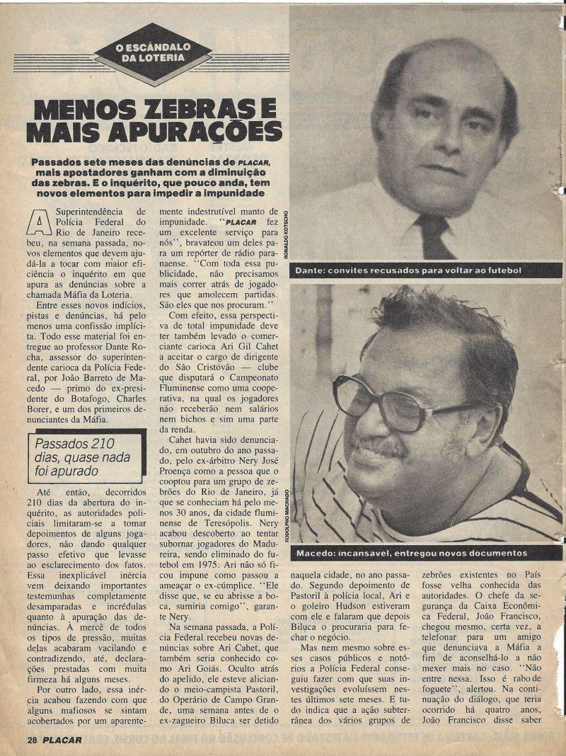 Read more about the article Corrupção no esporte – Menos Zebras e mais apurações
