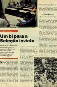 Read more about the article Um bi para seleção invicta