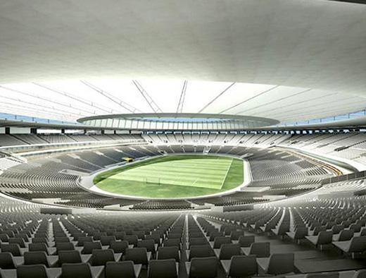 Maquete do novo Maracanã, que terá assentos numerados