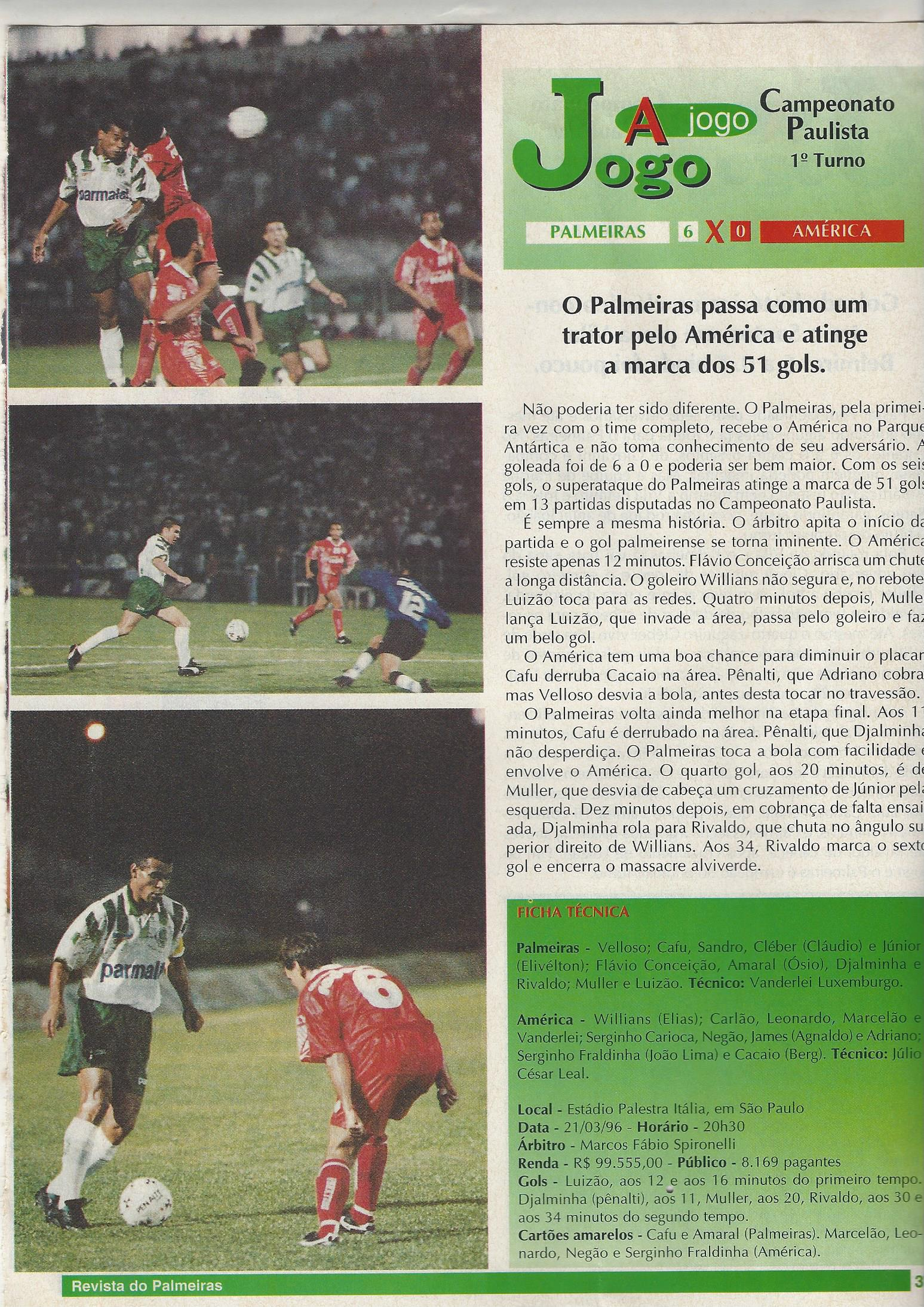 You are currently viewing O Palmeiras passa como um trator pelo América e atinge a marca de 51 gols