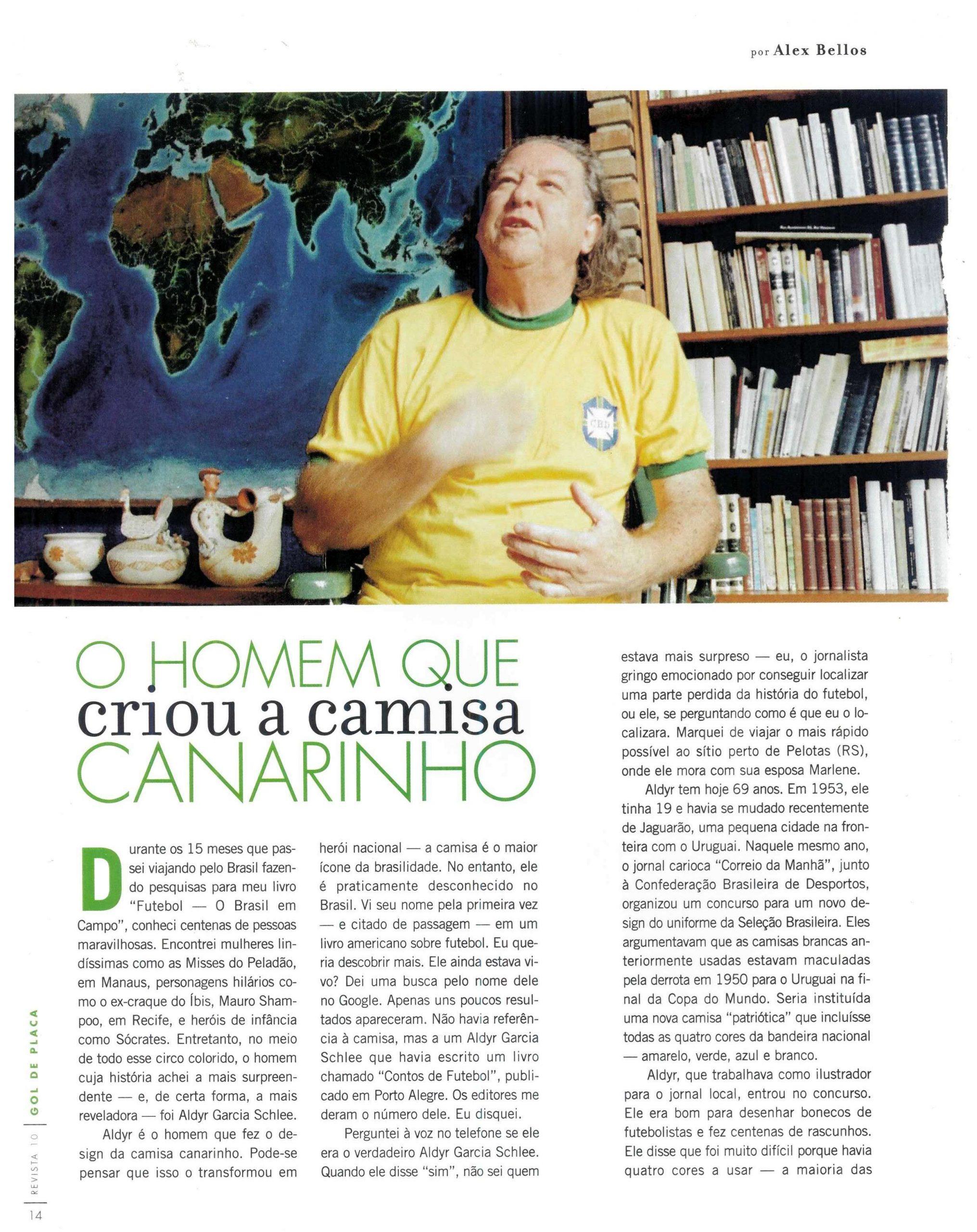 Read more about the article O homem que criou a camisa canarinho